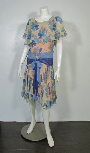 1920's Flapper One Piece Dress front フラッパーワンピースドレス前