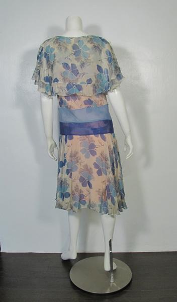 1920's Flapper One Piece Dress back フラッパーワンピースドレス後ろ
