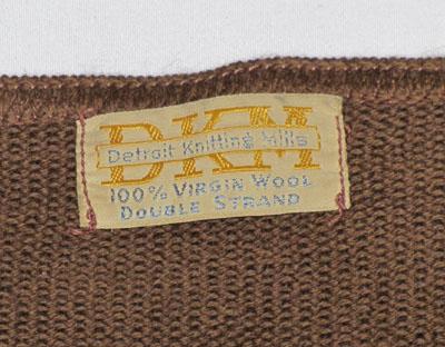 1930年代メンズセーター、タグ
