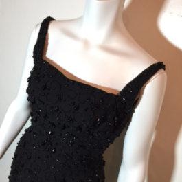 1950年代ブラックビーズドレス☆パーティー