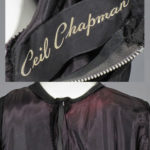 Ceil Chapman black dress シールチャップマンブラックドレス