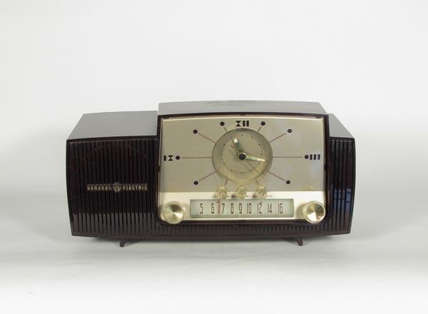 [ General Electric ] 真空管ラジオ時計付き1940's1950'sビンテージ