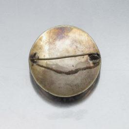 antique brooch back