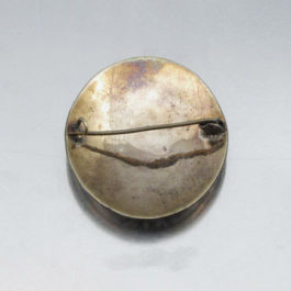 antique brooch back