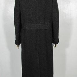 1930'sブラックウールロングコート