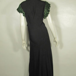 1940'sレーヨンロングドレス