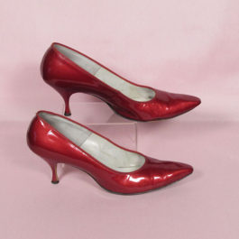 1960's 赤エナメルシューズ