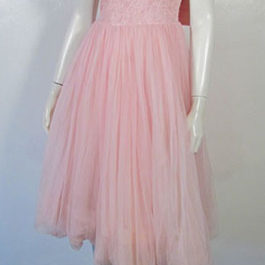ビンテージバルーンドレス☆パステルピンク1950's1960'