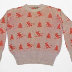 1930年代メンズスキー柄セーター