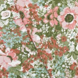 1950年代花柄ファブリック生地