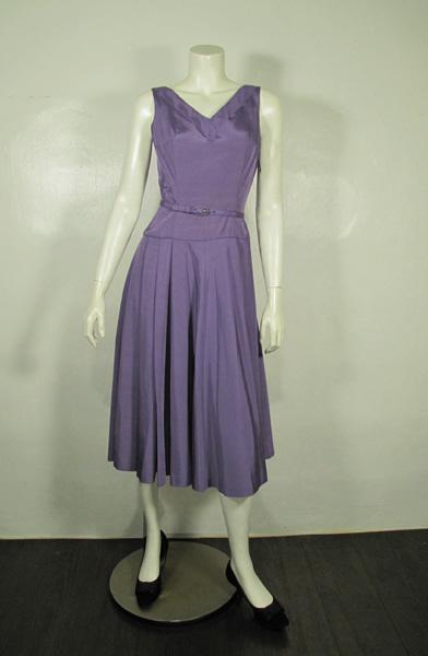 ビンテージ50'sパープルボレロ付きワンピースドレス