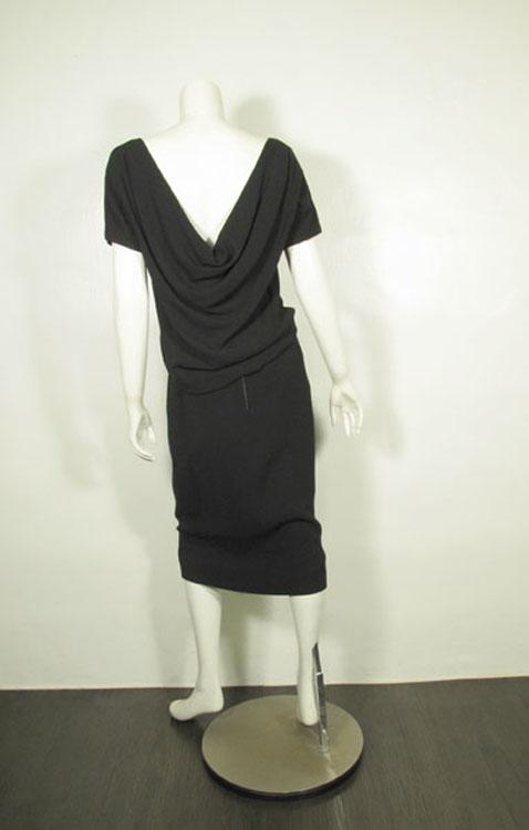 Suzy Perette スージーペレットブラックワンピースドレス1950's