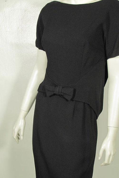 Suzy Peretteスージーペレットブラックワンピースドレス1950's