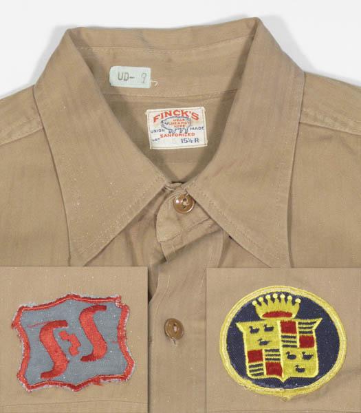 1930's40's ヘリンボーンツイル・長袖ワークシャツ 1940's50's vintage men's long sleeve shirts