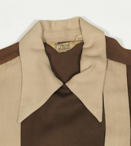 1940'sレーヨンギャバジン長袖シャツ, vintage 1940's rayon gabardine long sleeve shirts, rockabilly