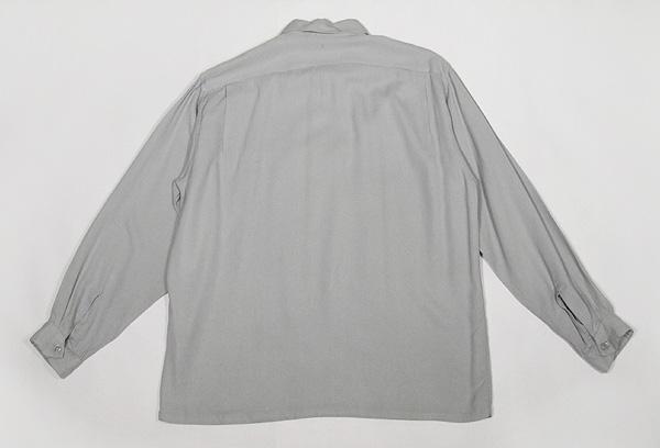 1950'sレーヨンギャバジン長袖シャツ◆ビンテージロカビリー