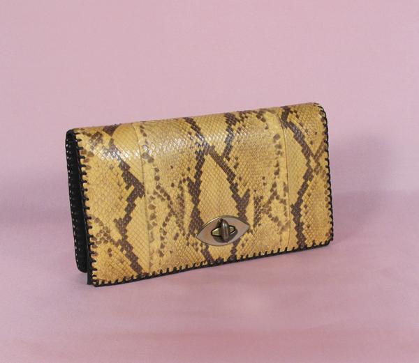 ビンテージ1930'sヘビ革クラッチバッグ