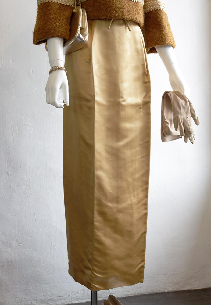1960's sati and wool long dress