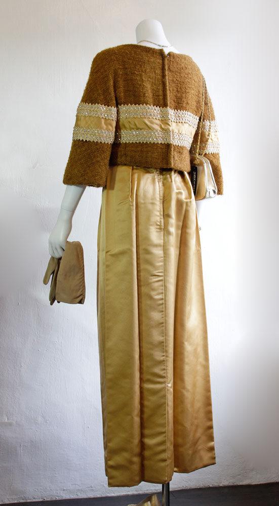 1960's sati and wool long dress