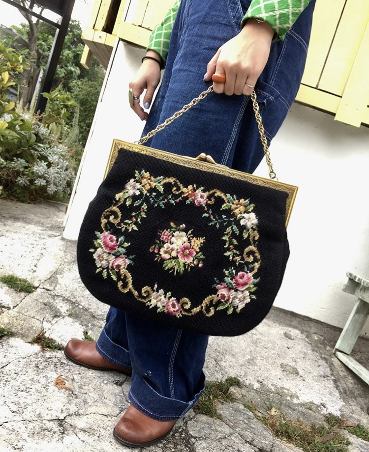 ♡♥1950's Cross Stitch Hand Bag♥♡