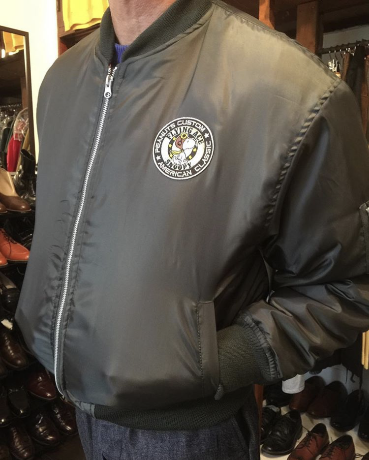 ☆★MA-1 Jacket with Snoopy Patch★☆