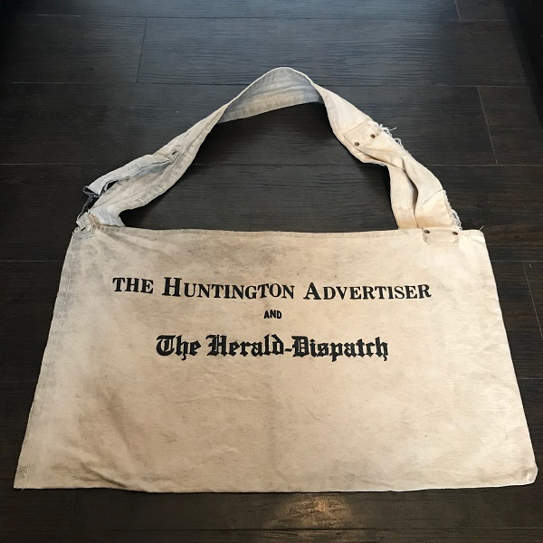 """1960's """"The Herald-Dispatch"""" Newspaper Carrier Bag"""