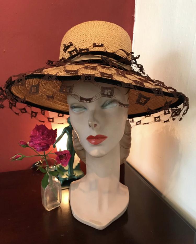 "♡♥Vintage 1960's ""MR.JOHN"" straw hat♥♡"