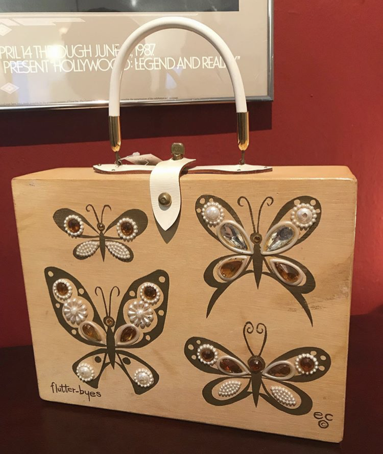 """♥Vintage 1960's """"ENID COLLINS"""" butterfly box bag♥"""