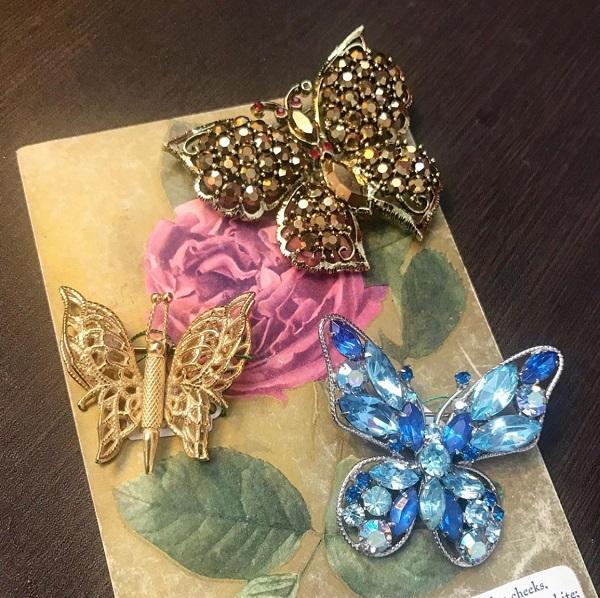♥♡60s Butterfly brooch♡♥