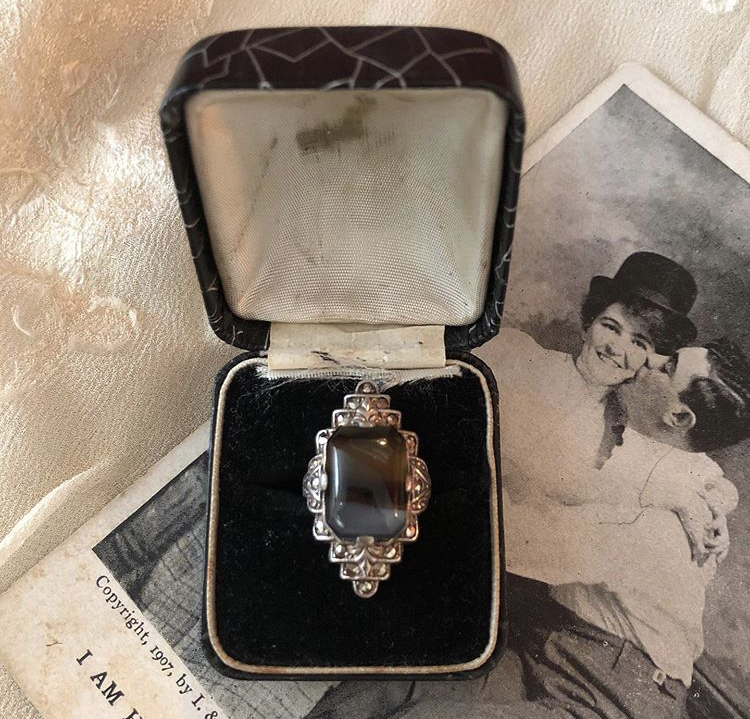 ♡♥1920s silver ring♥♡