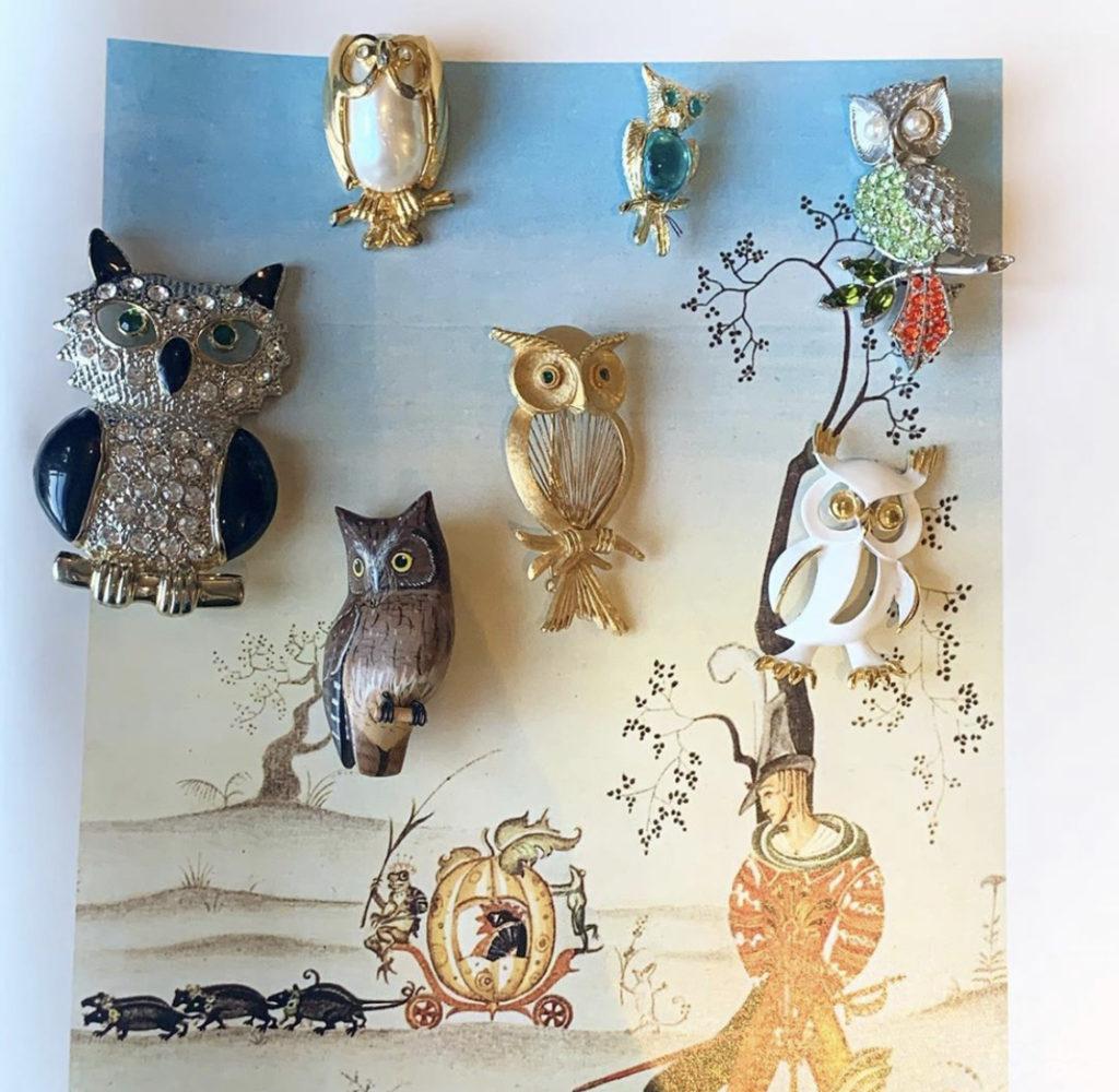 ♡♥Vintage owl broaches♡♥