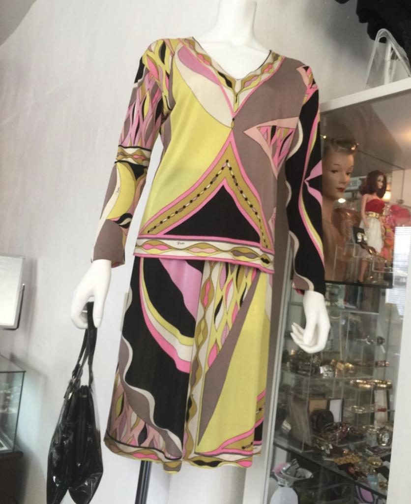 ♥Emilio Pucci 2 pc silk set circa 1960's♥