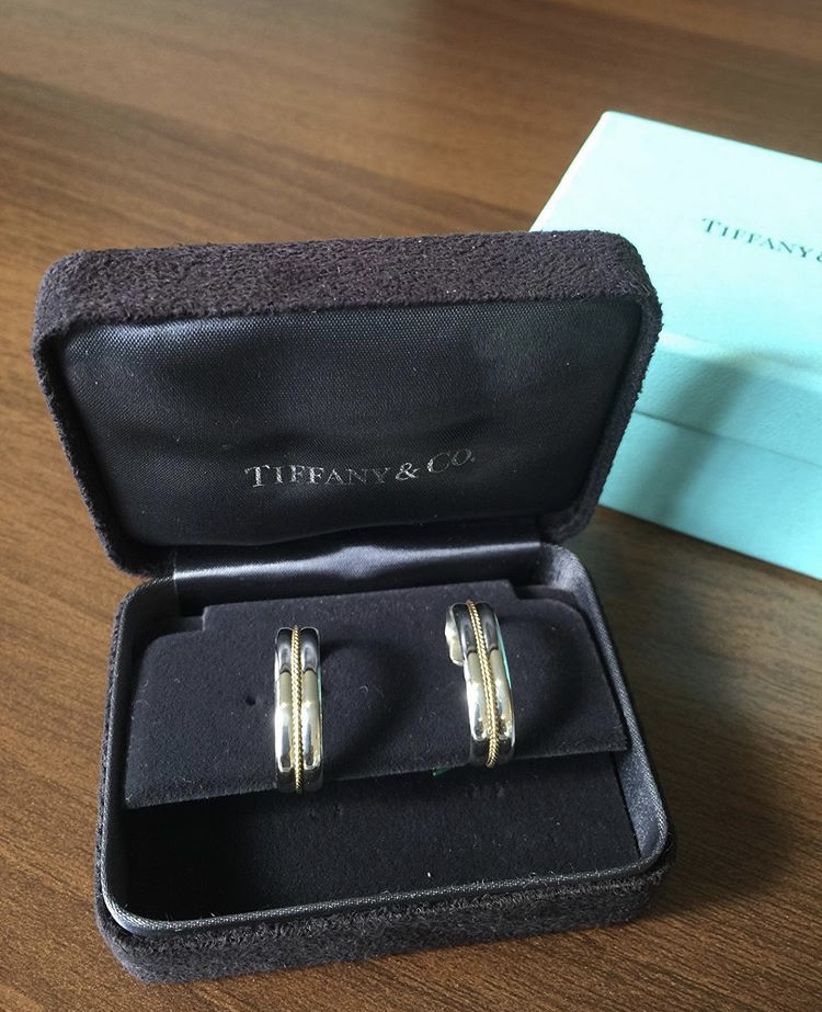 ☆Tiffany 18k/sterling silver earrings circa 1980's.★