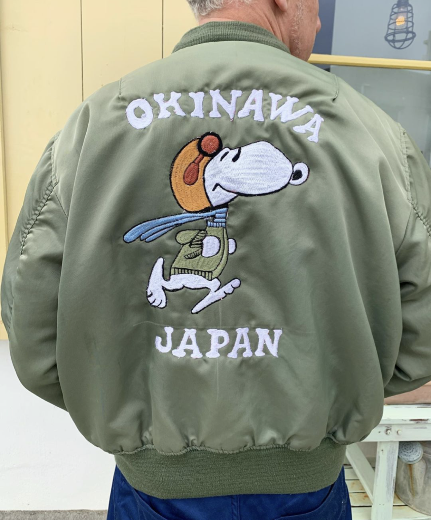 ★Okinawa Japan flying ace MA-1 Jacket★