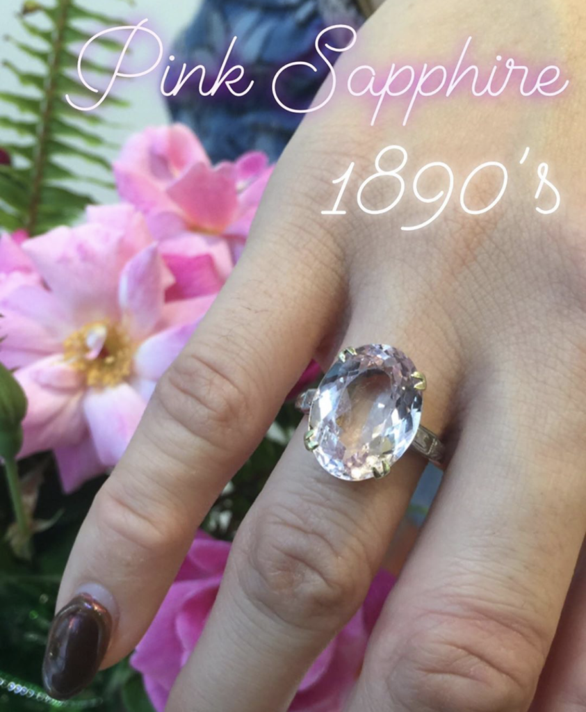 ♡1890s pink sapphire ring♡