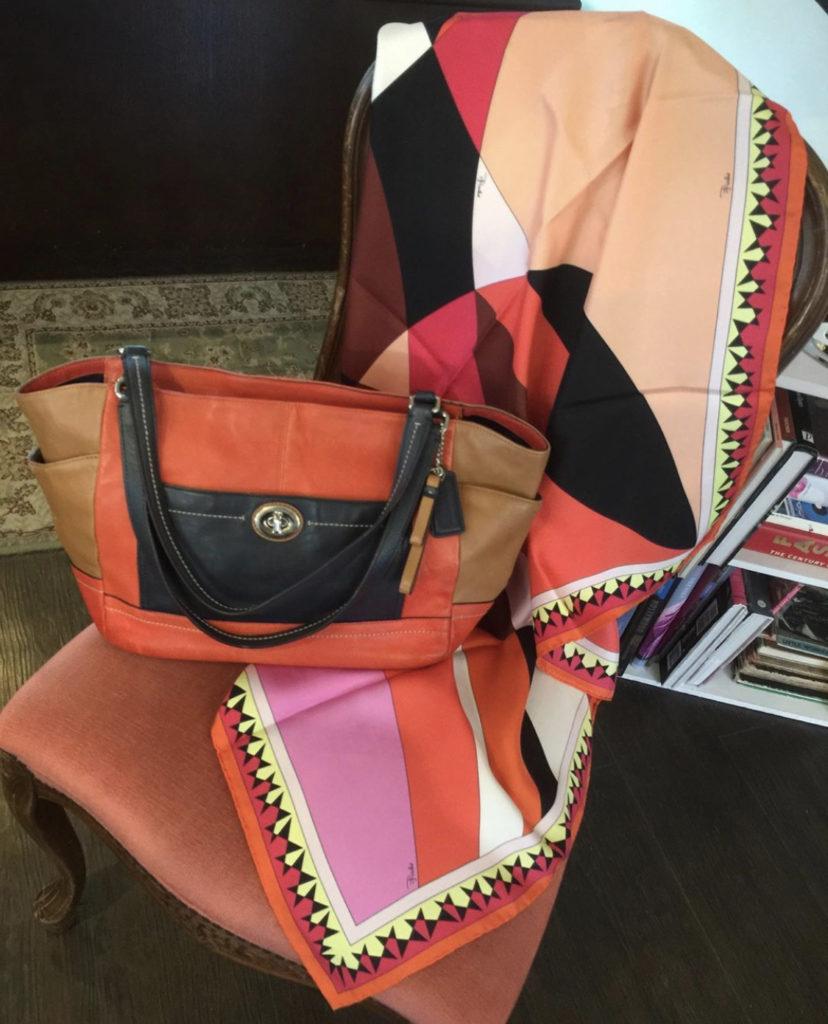 ♡♥Emilio pucci scarf×Coach Bag♥♡
