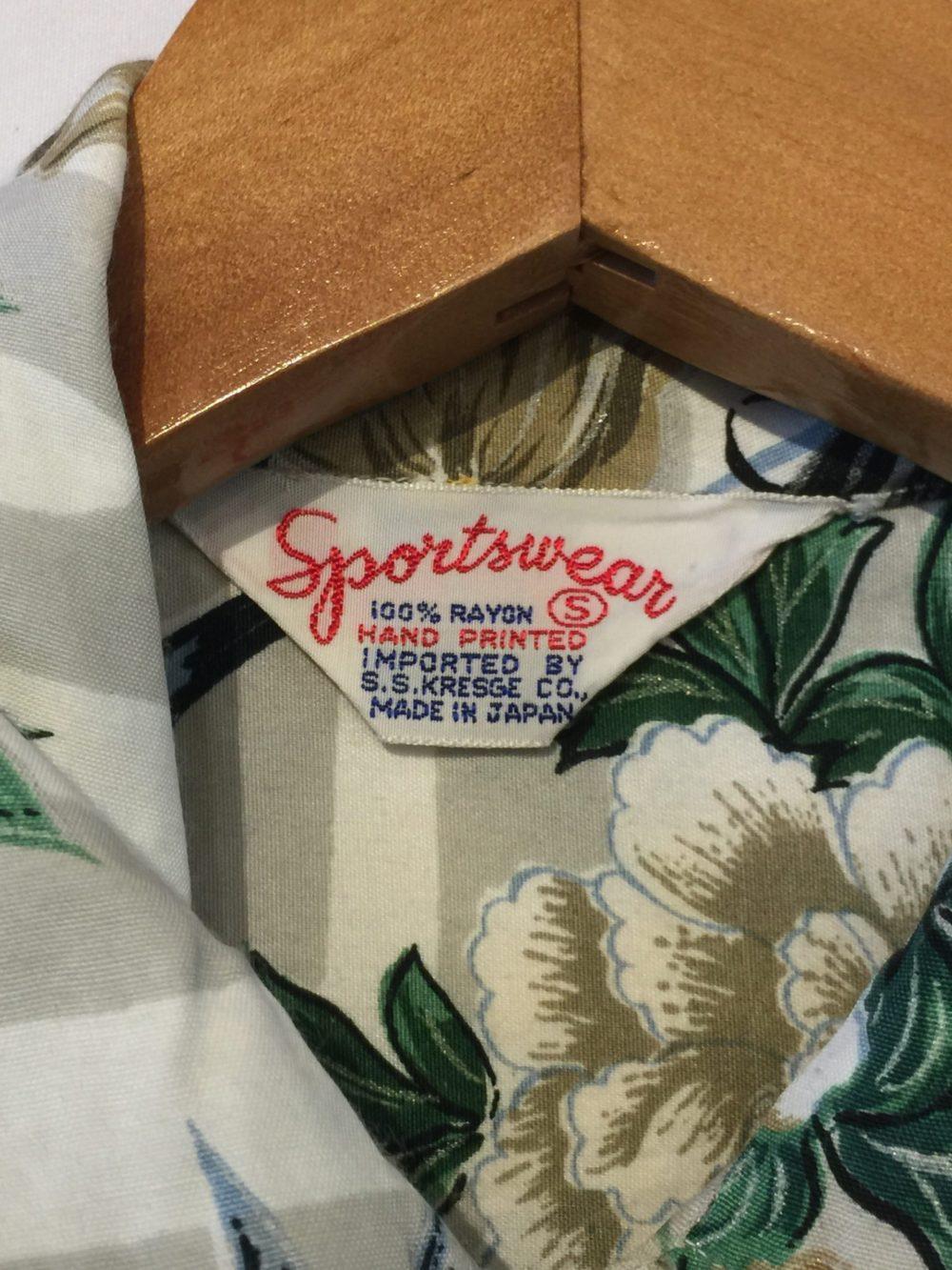 1950's Sportswear S.S KRESGE Co. ビンテージレーヨンアロハシャツ